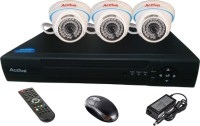 Active Feel Free Life CCTV COMBO KIT, 36IR Dome Camera 3Pcs + Analog & AHD 4 Channel Home Security Camera (NA GB)