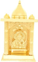 Ankit Enterprises Laddoo Gopal Small Gold Plated Brass Home Temple (Height: 12 Cm)