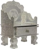 Pavitra Mandir 12 X 7 Aluminium Singhasan With Tray & Drawer Wooden, Aluminium Home Temple (Height: 19 Cm)