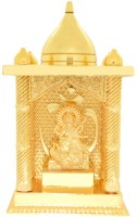 Ankit Enterprises Saraswati Ji Small Gold Plated Brass Home Temple (Height: 12 Cm)