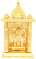 Ankit Enterprises COW KRISHNA SMALL TEMPLE GOLD PLATED Brass Home Temple (Height: 12 Cm)