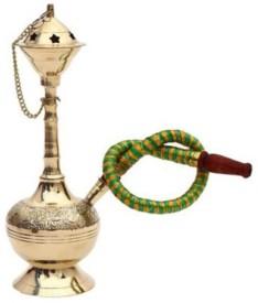 Bharatcraft Rajasthani Hukka 9 inch Brass Hookah