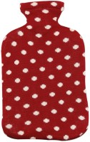 Pluchi Dots All The Way Hot Water Bottle Cover Non-Electrical 2 L Hot Water Bag (Red, Natural)