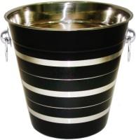 King International Stainless Steel Black Wine Bucket / Champagne Bucket Stainless Steel Ice Bucket (Black 3.5 L)