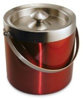 King Traders Stainless Steel Ice Bucket (Red 1.75 L)
