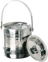 Tirupati Double Wall Hand Hammered Stainless Steel Ice Bucket (Steel)