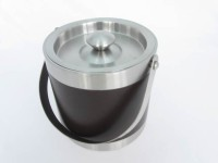 Lilac Matte Coloured Stainless Steel Ice Bucket (Black 1400 L)