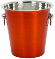King International Stainless Steel Ice Bucket (Red 3.8 L)