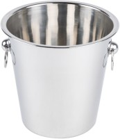 King Traders King Traders-Stainless Steel Champagne Bucket/ Wine Bucket/Ice Bucket-3850ml Stainless Steel Ice Bucket (Grey 3.8 L)