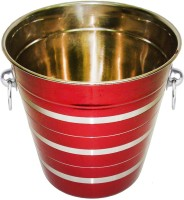 King International Stainless Steel Red Wine Bucket / Champagne Bucket Stainless Steel Ice Bucket (Red 3.5 L)