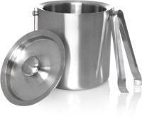 King International Double Walled/Insulated Ice Bucket With Tong - 1750 Ml Stainless Steel Ice Bucket (Silver 1.75 L)