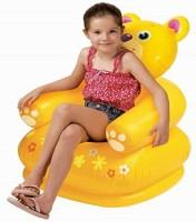 Ktkashish Toys Kashish Happy Animal Chair.(65cm*64cm*74cm) Inflatable Chair (Yellow)