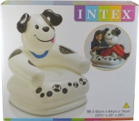 Intex Happy Animal Puppy New Launch Inflatable Animal Chair (White, Black)