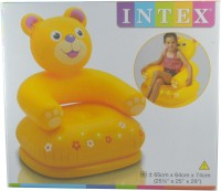 Intex Happy Animal Bear Inflatable Animal Chair (Yellow)