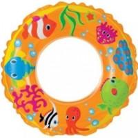 Intex Intex Ocean Reef Transparent Inflatable Swim Ring (Yellow)