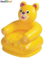 Intex Stealodeal Teddy Chair Inflatable Chair (Yellow)