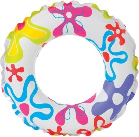 Intex Lively Print Swim Ring - Flower Inflatable Water Games