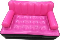 IBS Airsofa 5 In 1 Air Bed Blue Lounge Seat Couch With Free Electric Pump Pp 3 Seater Sofa Home Mattress Carbed Velvet Inflatable Airbed (Pink)