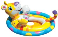 Intex Intex Funny Tiger See Me Sit Ring Inflatable Baby Float (Yellow)