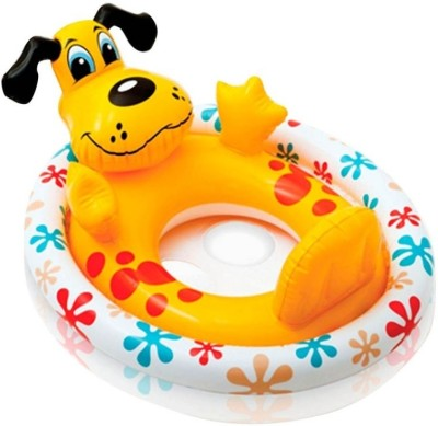 Intex Intex Puppy See Me Sit Ring Inflatable Baby Float (Yellow)