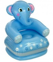 Ktkashish Toys Kashish Elephant Blue Chair(65cm*64cm*29cm) Inflatable Chair (Blue)