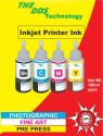 DDS All Color Ink Bottle Compatible For Epson L100,L110,L200,L210,L300,L350,L355,L550,555,C6642,M6644,Y6643,B6641 Cyan, Magenta, Yellow, Black Ink (Cyan, Magenta, Yellow, Black)