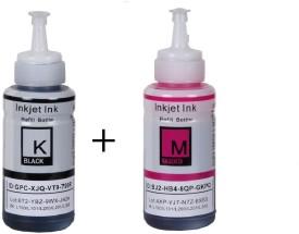 Inkpro Ink Set Compatible For Epson Printer L100 / L110 / L200 / L210 / L220 / L300 / L350 / L355 / L550[ Combo Of Black And Magenta Color ] Black, Magenta Ink (Black, Magenta)