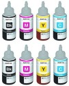 GPS Epson L100/L200/L210/L300/L350, 4 Colour Ink 2 Set Cyan, Magenta, Yellow, Black Ink (Cyan, Magenta, Yellow, Black)