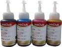 Inkclub 70ml*4 Compatible Epson Ink For L100,L110,L200,L210,L300,L350,L355,L550,L555(cmyk) Multicolor Ink (Cyan, Magenta, Yellow, Black)