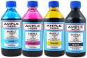 Ample India 200ML Compatible For Epson L100,L110,L200,L210,L300,L350,L355,L550,L555 Black,Yellow,Magenta & Cyan Ink (Black, Yellow, Magenta, Cyan)