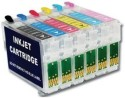 Max 82N (821NR - 826NR) 6 Color Refillable Cartridge Set Empty Without Black, Cyan, Magenta, Yellow, Light Cyan, Light Magenta Ink (Black, Cyan, Magenta, Yellow, Light Cyan, Light Magenta)