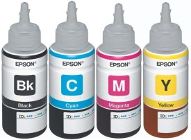 Epson For L100/L200/L210/L220/L300/L350/L500 Pigment Based Ink (Black, Cyan, Megenta, Yellow)