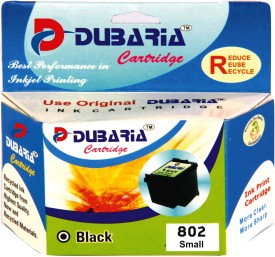 Dubaria 802 / CH561ZZ Cartridge - HP Compatible for Use In Deskjet 1000, 1010, 1011, 1050, 1510, 1511, 2000, 2050, 3050, J210, J310, J610 Black Ink