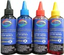 GoColor HP Premium Quality Inkjet 100 Ml X 4 Colours (Dye Ink) Cyan Ink - Cyan, Magenta, Yellow, Black