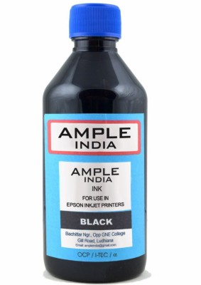 Ample India 200ML Compatible For Epson L100,L110,L200,L210,L300,L350,L355,L550,L555 Black Ink (Black)