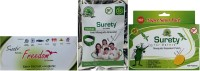 Surety For Safety Freedom + Anti Mosquito Bracelet(Green) + Mosquito Repellent 100 Patch (Pack Of 3)