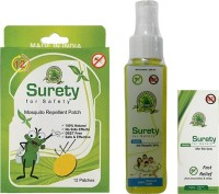 Surety For Safety Mosquito Repellent 12 Patch + Anti Mosquito Spray + After Bite Spray (Pack Of 3)