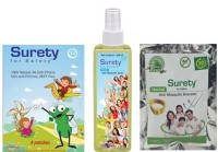 Surety For Safety Herbal Mosquito Patches 4, Anti Spray & Bracelet (Yellow) (Pack Of 3)