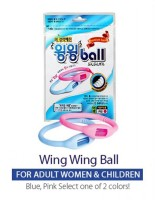 Moments Wing Wing Ball ( Blue / Pink ) Mosquito Repellent Bracelet (Pack Of 1, 50 G)