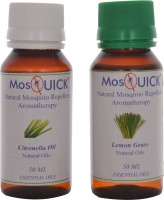 Mosquick Natural Mosquito Repellent Oil,Citronella Oil (Pack Of 2, 100 Ml)