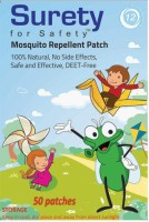 Surety For Safety Herbal Mosquito Repellent Patches 50 (Pack Of )