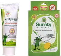 Surety For Safety MosQShield Cream + Mosquito Repellent 50 Patch (Pack Of 2)