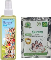 Surety For Safety Herbal Spray, Bracelet(Yellow) (Pack Of 2)