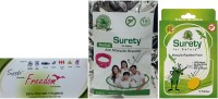 Surety For Safety Freedom + Anti Mosquito Bracelet Pink + Mosquito Repellent 12 Patch (Pack Of 3)