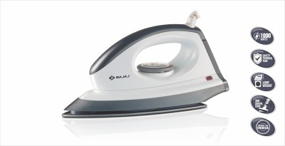 Bajaj Majesty DX 8 Dry Iron (Grey and White)