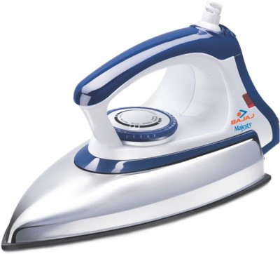 Bajaj Majesty DX 11 Dry Iron (White, Blue)