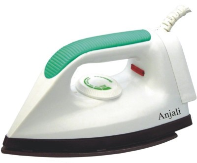 ANJALI DOLLER Dry Iron (WHITE WITH GREEN HANDLE)