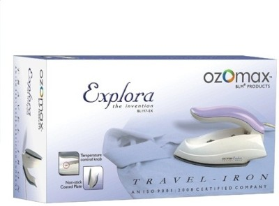 Ozomax Explora Travel Dry Iron (White & Grey)