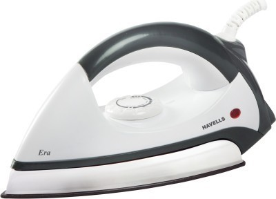 havells era 1100 Dry Iron (white, grey, white)