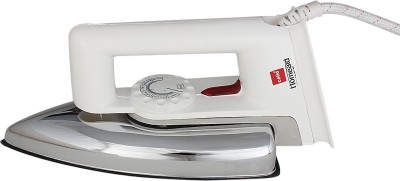 Cello Thermostatic Electric Iron With Aluminium Alloy Sole Dry Iron (Silver, White)